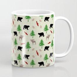 Moose & Bear Pattern Coffee Mug