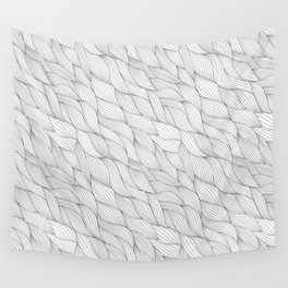 Black and white waves Wall Tapestry