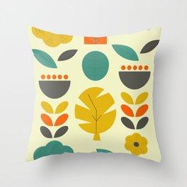 Retro autumn collection Throw Pillow