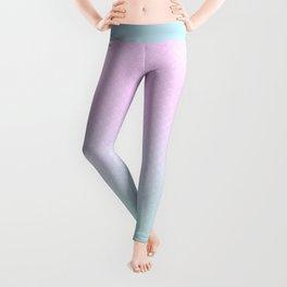Cute Mermaid pink and blue Leggings