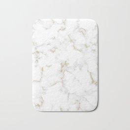 Fine Gold Marble Natural Stone Gold Metallic Veining White Quartz Bath Mat