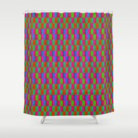 quilt Shower Curtains featuring Caterpillar Quilt by Peter Gross