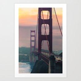 Golden Gate at Golden Hour Art Print
