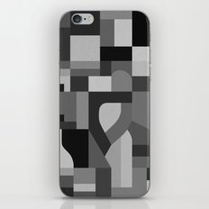 Langley Tex Black and White iPhone & iPod Skin