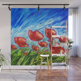 Wild Poppies by Ira Mitchell-Kirk Wall Mural