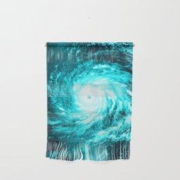 WaTeR Aqua Turquoise Hurricane Wall Hanging