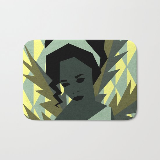 The shy girl Bath Mat