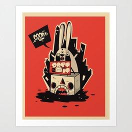 Post it Art Print