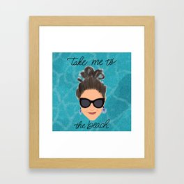 Beach Babe Framed Art Print