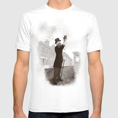 Vintage Selfie White SMALL Mens Fitted Tee
