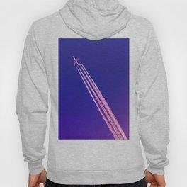 Deep Blue Sky and Plane Hoody