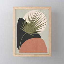 Tropical Leaf- Abstract Art 5 Framed Mini Art Print