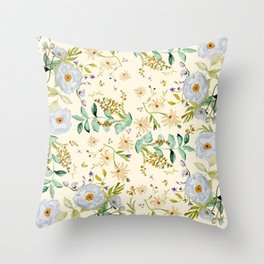 DUSTY BLUE PATTERN Throw Pillow