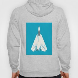 F14 Tomcat Fighter Jet Aircraft - Cyan Hoody