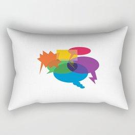 Speech Bubbles Rectangular Pillow