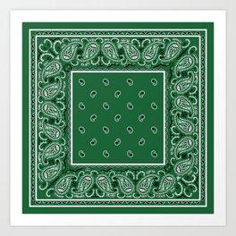 Classic Green Bandana Art Print