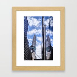 Chrysler Building Reflections in Midtown Framed Art Print