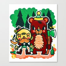 Lumberjack and Friend Canvas Print