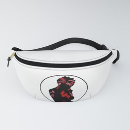 graphic man with black and flower Fanny Pack