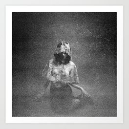 Oh Thumbelina - Holga Black and White Art Print