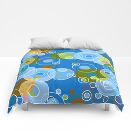 Blue Bubbles Comforters