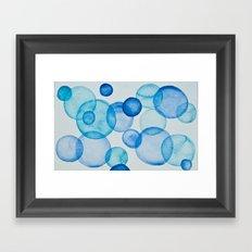 blue blue bubbles Framed Art Print