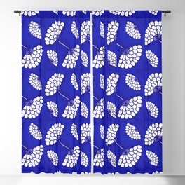 African Floral Motif on Royal Blue Blackout Curtain