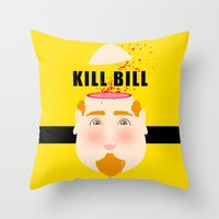 kill bill Throw Pillows featuring Kill Bill by Frikaditas T-Shirts