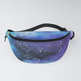 Watercolor space paint Fanny Pack