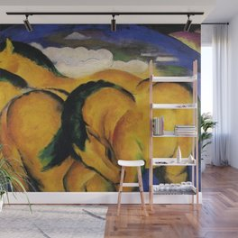 The Yellow Horses by Franz Marc Wall Mural
