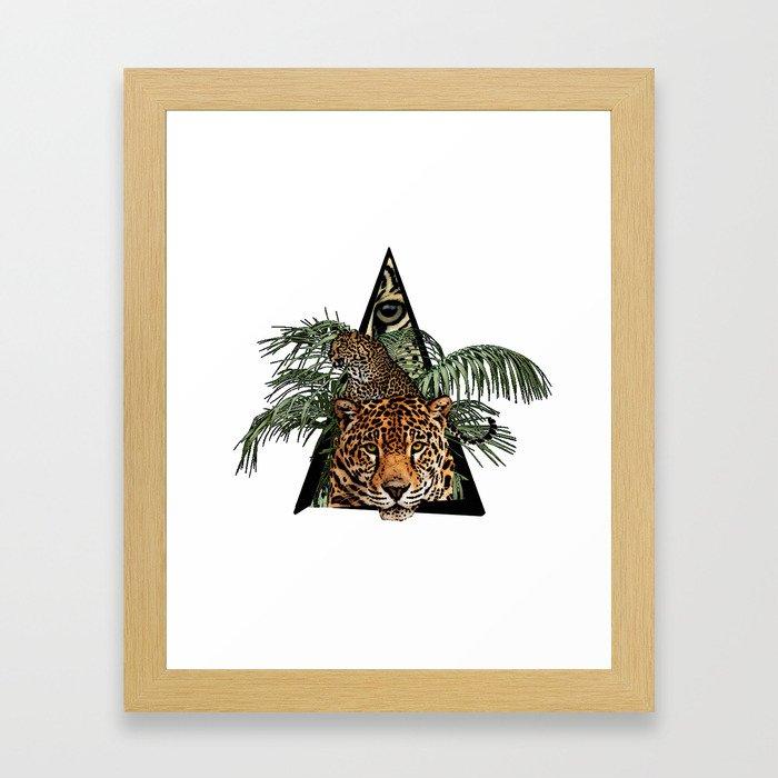 Jungle Animal Leopard ArtWork Framed Art Print