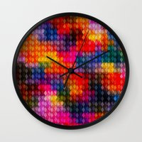 stained glass Wall Clocks featuring Stained Glass by Stuff.