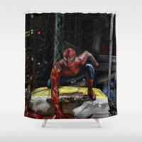 comic book Shower Curtains featuring comic by Fila Venom Art