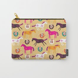 Lucky Horses Carry-All Pouch
