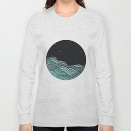 Night Ocean Long Sleeve T-shirt