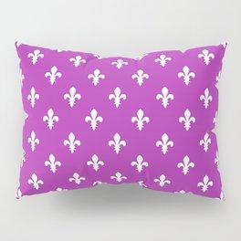 Fleur-de-Lis (White & Purple Pattern) Pillow Sham