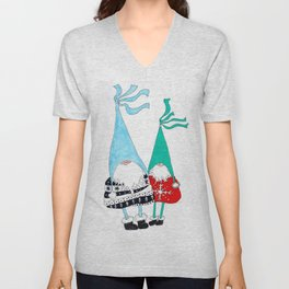 Just two Gnomes, Having a good time. Unisex V-Neck