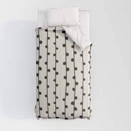 Abstract nobbly black creeper on neutral Comforters