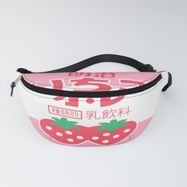 kawaii japanese strawberry milk Fanny Pack
