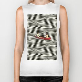 Illusionary Boat Ride Biker Tank