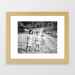 Kids_Borneo Framed Art Print