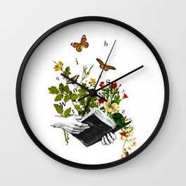 Look in a Book Wall Clock