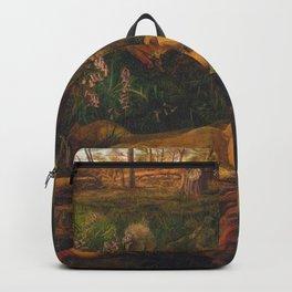 Little girl sleeping in the woods Backpack