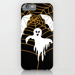 Bats and Ghost white - black color iPhone Case