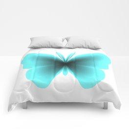 Pretty Wings of Aqua Butterfly Comforters