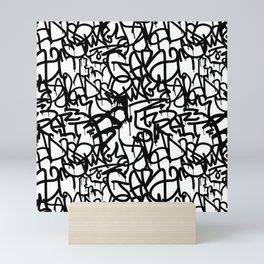 Graffiti Pattern | Street Art Urban Graphic Mini Art Print