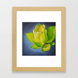 Blooming Lotus Framed Art Print