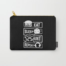 Eat Sleep Hunt Repeat - Hunting Hunter Trophy Deer Carry-All Pouch