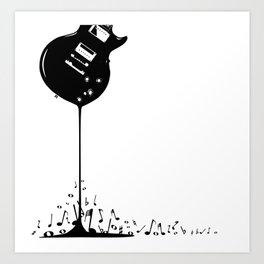 Bubbling Musical Notes Art Print