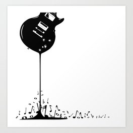 Bubbling Musical Notes Art Print